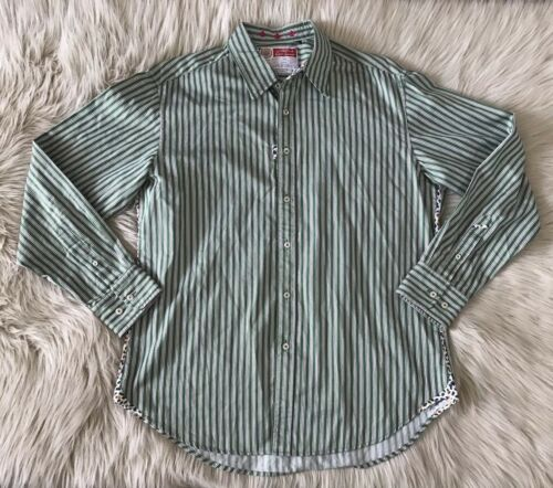 Robert Graham Mens Large Button Up Shirt Striped L