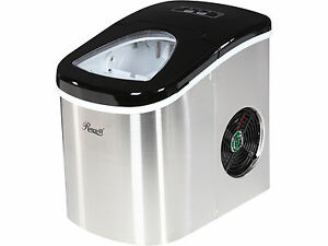 Black Countertop Ice Maker : ... -Black-Compact-Portable-Countertop-Stainless-Steel-Ice-Cube-Maker
