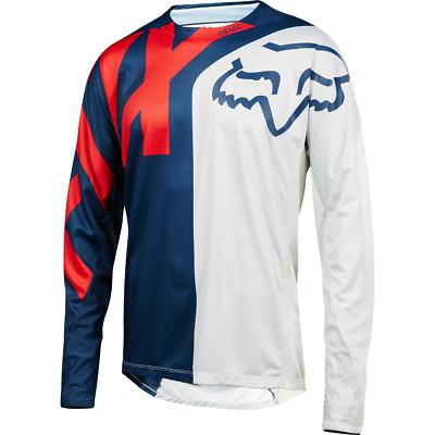Fox Racing Demo Long Sleeve L//S Jersey Preme White//Black