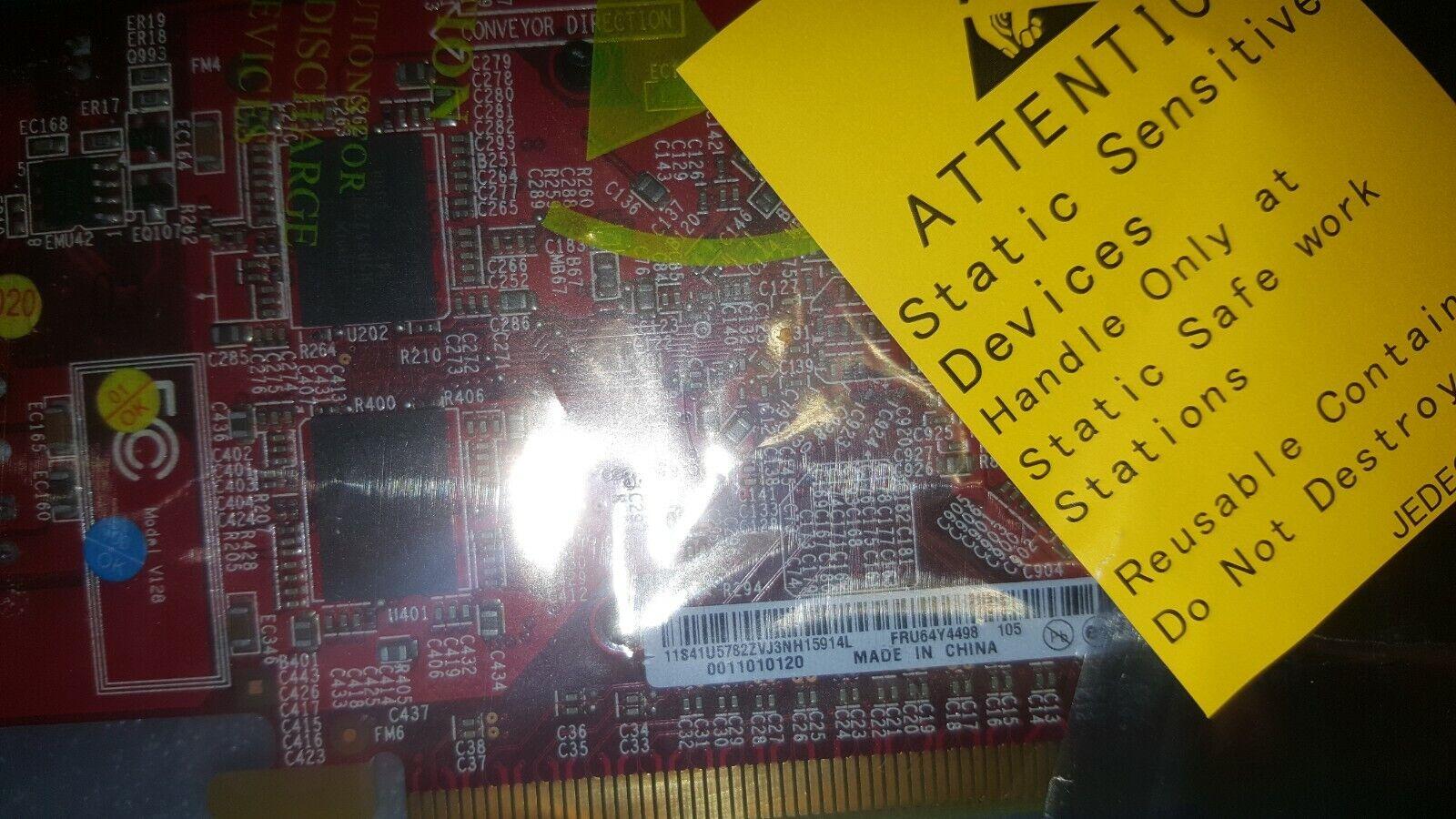 IBM / Lenovo ATI Radeon HD 3470 64Y4498 256MB VGA Display Port PCIe LOW PROFILE