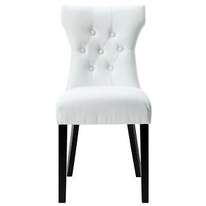 Image Is Loading Silhouette Modern Hourgl Shaped Vinyl Dining Side Chair