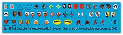 Peddinghaus  1//48 0730 Staffelwappen der deutschen Luftwaffe Jagdgeschwader Teil
