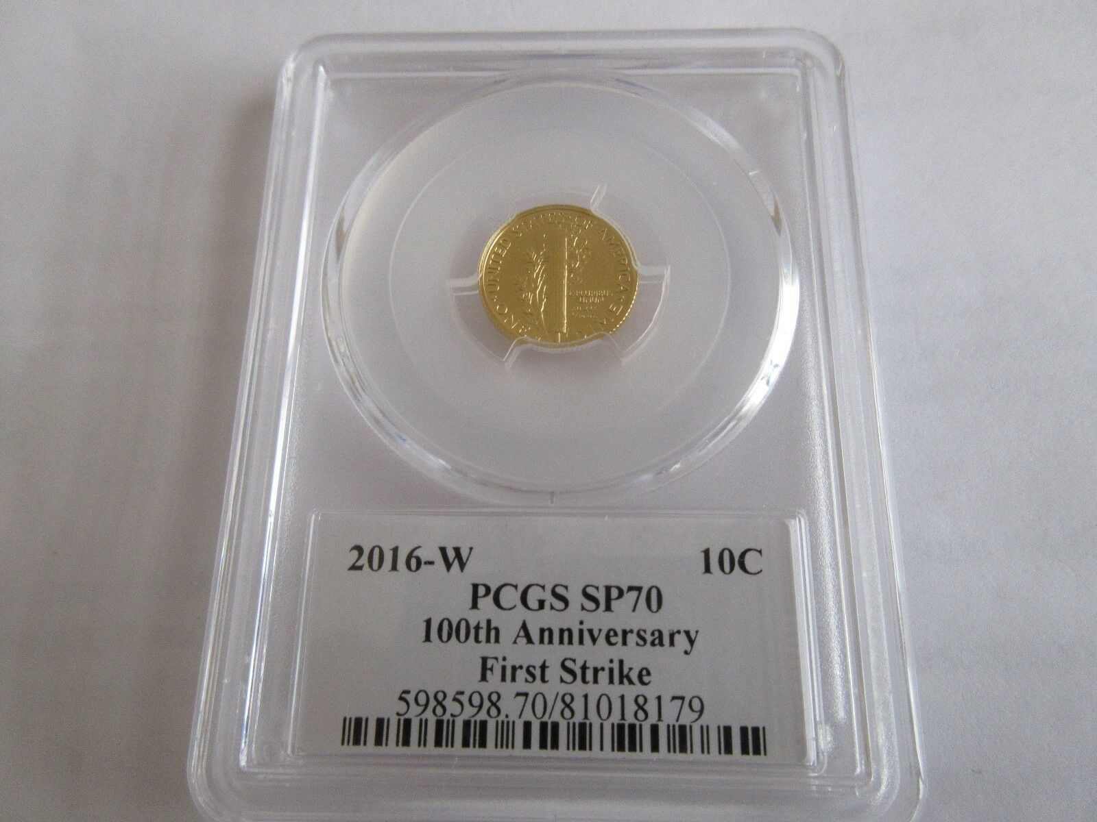 2016-W Winged Liberty Head (Mercury Dime), Gold ,PCGS ,