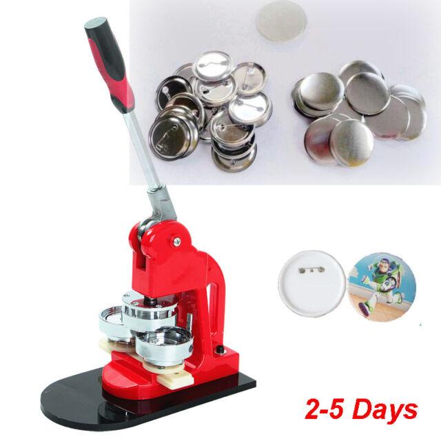 25mm Badge Button Maker Punch Press Machine Supplies+1,000 Parts+Circle Cutter
