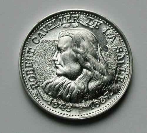 1643-1687 Canada Explorer High Relief Aluminum Medal Robert Cavelier De La Salle