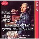 Wolfgang Amadeus Mozart - Mozart: Symphonies Nos. 31, 33, 34 (1998)