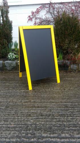 Pavement Sign 100 x 60cm Blackboard Large Yellow A Board Chalkboard