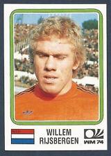PANINI WORLD CUP STORY #081-MUNICH 74-NEDERLAND-HOLLAND-WILLEM RIJSBERGEN