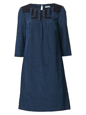 Dickins /&  Jones RRP £85 Blue Black Lace Yoke Tunic Shift Dress House of Fraser