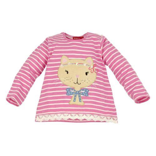 62 68 74 80 86 92 rosa 86031 Bondi Mädchen Sweatshirt Sweat Shirt Katze NEU Gr