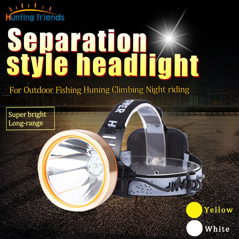 Rechargeable Headlamp LED Head Lamp Waterproof Headlight Separation Style light   all goods are specials