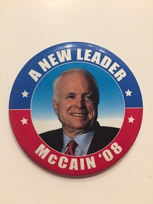 "2008 Senator John McCain For President ORIGINAL 2.25/"" Button"