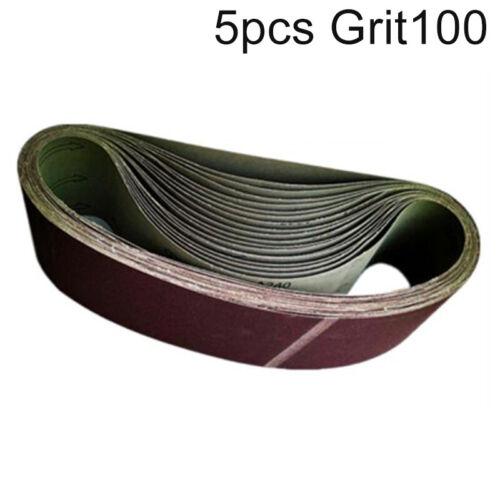 5pcs//Set Abrieb Riemen 40-320 Körnung Schleifen Schleifblatt Papier 100mmX915mm