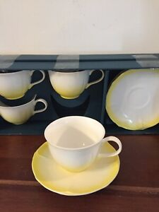 Caldo-Freddo-Cup-and-Saucer-DREAMER-COLLECTION-SET-OF-4-YELLOW
