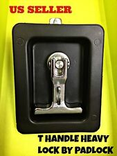BOX 10, Black T Handle Heavy Duty Lock By Padlock For Electricity station Truck