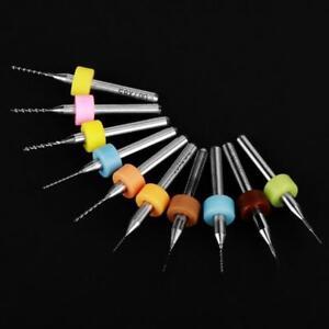 10Pz-Micro-0-1mm-1-0mm-Punte-Trapano-Tungsteno-Carburo-Drill-Bits-Per-PCB-CNC