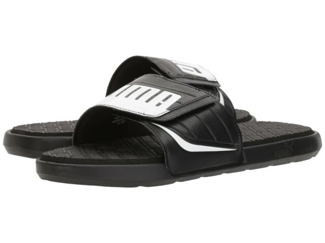 89fe4c9b7e4 PUMA Mens Starcat Bold Plus Slide Sandal Black White 12 M US for ...