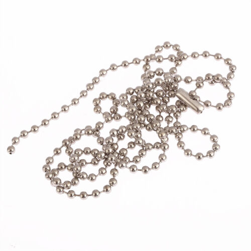 """Gold silver bronze Metal Chain Necklace Ball Chain Bead Connector long 28/"""" 1pcs"""