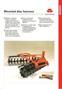 Massey-Ferguson-220-240-Mounted-Disc-Harrows-Brochure-Very-Good-Condition