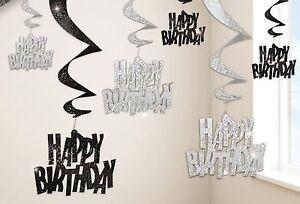 Black-Glitz-Happy-Birthday-Silver-Hanging-Swirls-Decorations-1-30pk