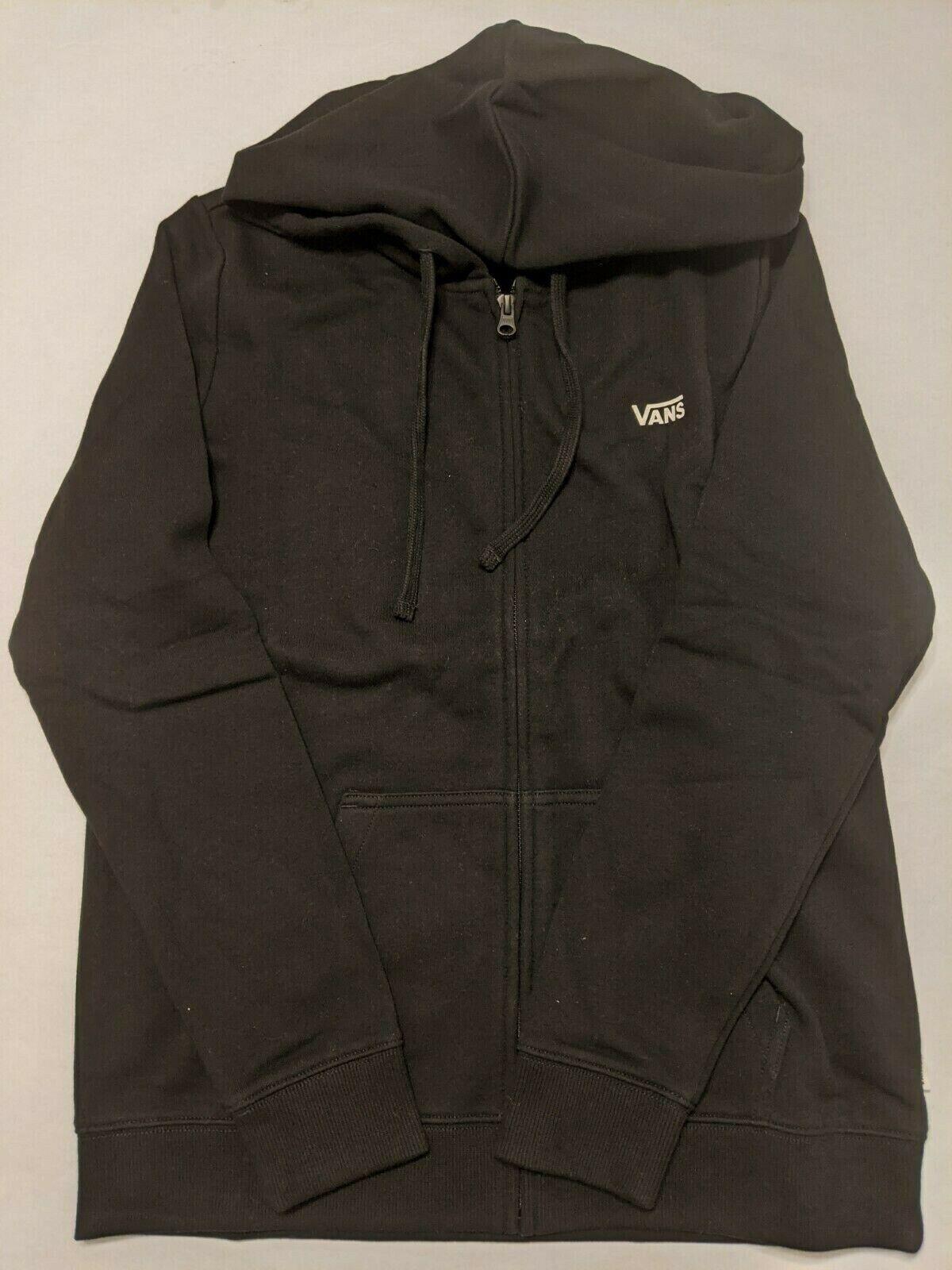 Vans Sweatshirt Women's Small New Classic V Full Zip Black Hoodie