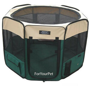 EliteField-2-Door-Soft-Playpen-with-4-GROUND-ANCHORS-Crate-Cage-Kennel-3-Sizes