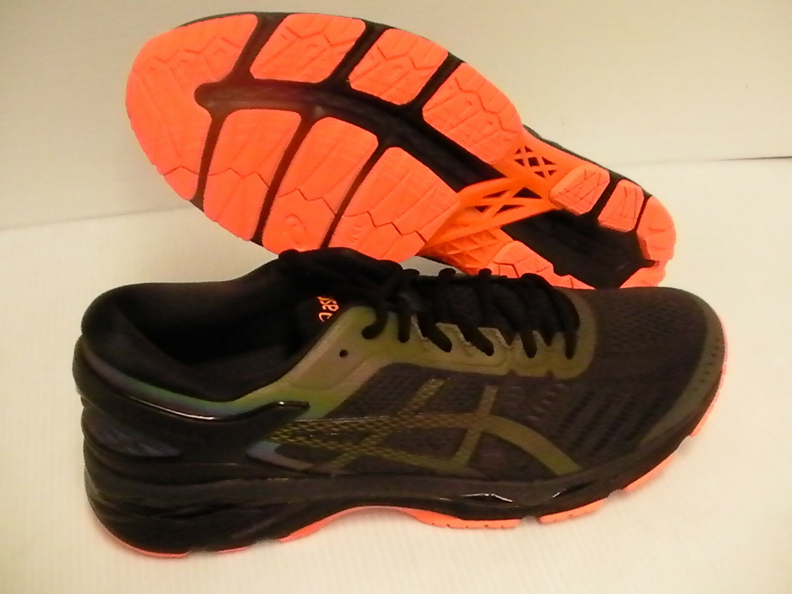 Asics men's gel kayano 24 lite black show running shoes phantom black lite size 10 us 3d3240