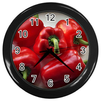 New Wall Clock Culinary Red Cherry Tomatoes Tomato Vegetables Kitchen Clock #1