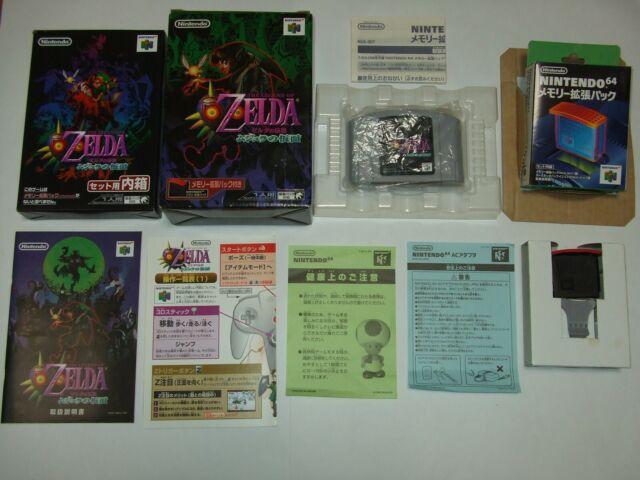 Zelda Majora's Mask Boxed Complete Nintendo 64 N64 NTSC-J Japan import