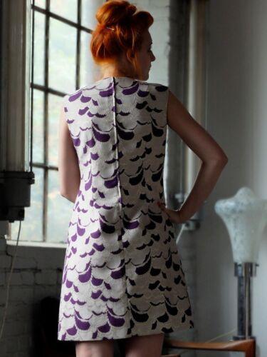 True Lurex Beige Dralon 60er Damen Lila Kleid Vintage 60er New knO80ZNXwP