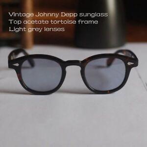 4f4200856b4 Image is loading Vintage-SOILD-Acetate-Johnny-Depp-sunglasses-mens-tortoise-
