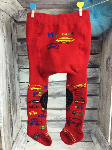 Baby Boy Cotton Terry Tights Pants Anti Slip ABS Sole Crawling Knee Rubberised