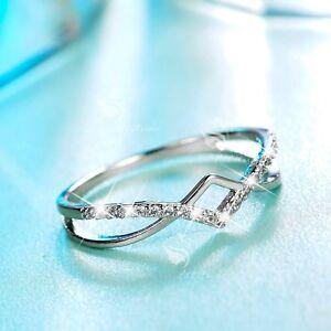 18K-White-Gold-GF-women-039-s-wedding-Ring-Simulated-Diamond-slim-simple-fashion