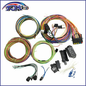 20 circuit wiring harness mini fuse chevy ford hotrods universal x rh ebay com 20 circuit wiring harness kit diagram universal 20 circuit wiring harness
