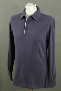 PAL-ZILERI-Mens-Purple-Long-Sleeved-Rugby-Shirt-Size-IT-50-Large-L