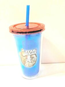 Star-Wars-Insulated-BPA-Free-Drinking-Cup-W-Straw-Mint-Condition-Collectible-039-77
