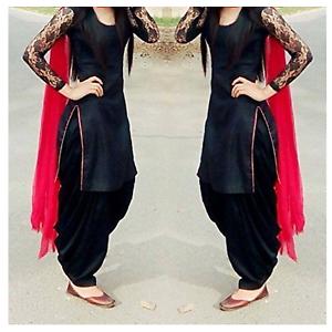 Indian Designer Black Punjabi Patiala Salwar Kameez Suit Dress
