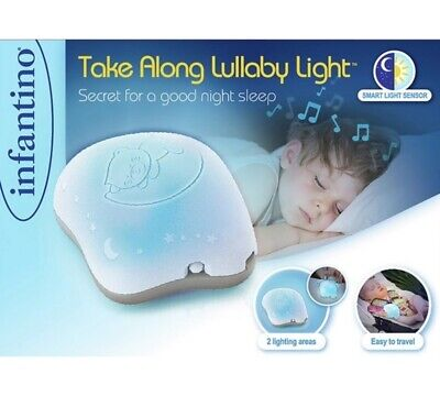 Creatief Infantino Take Along Lullaby Baby Night Light Portable Lamp Blue Pink Baby Girl