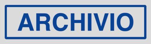 Adesivo segnaletica ARCHIVIO 165x50 mm.