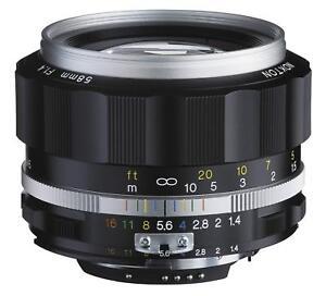 Voigtlander-2016-NOKTON-58mm-F1-4-SL-II-Ai-S-Silver-Rim-for-Nikon-F-Mount-EMS