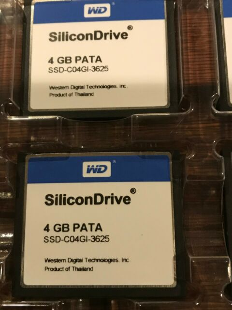 1 x SSD-C04GI-4300 4GB Compact Flash SiliconDrive II Western Digital