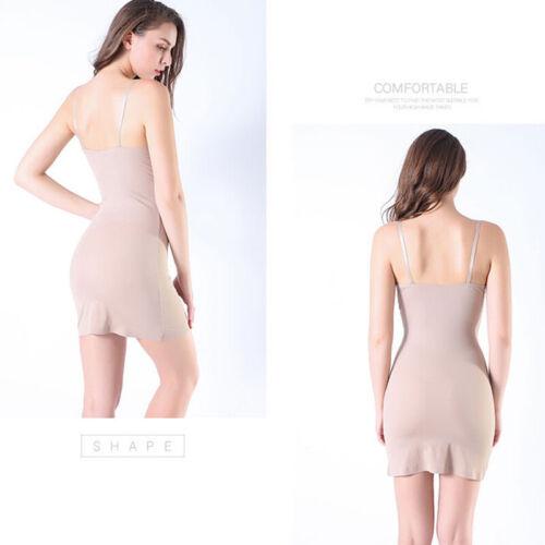 Women V Neck Body Shaper Seamless Full Slips Under Dress Tummy Control Shapewear