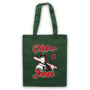 DemüTigen Atlanta Chipper Jones Baseball Unofficial Braves Player Tote Bag Life Shopper Belebende Durchblutung Und Schmerzen Stoppen