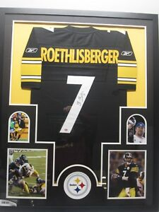 288d1899860 Image is loading BEN-ROETHLISBERGER-Pittsburgh-Steelers-Autographed-Jersey- Framed-w-