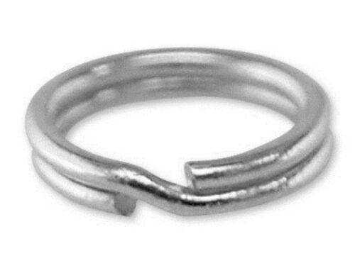 10x Anillo de plata esterlina encanto vínculos KEYRING de 7 mm Split fácil conectar tus encantos