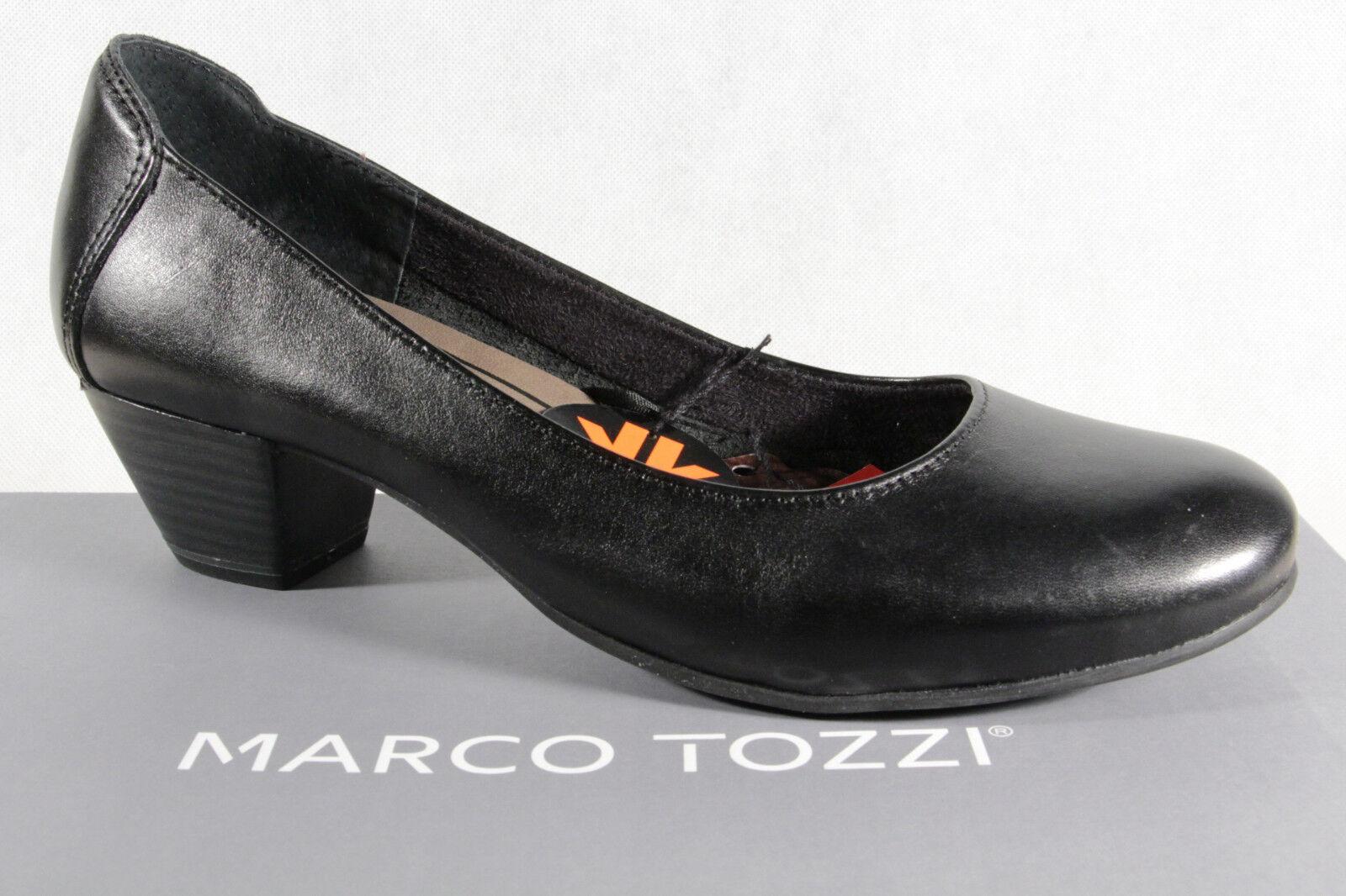 Marco Tozzi Décolleté Pantofole di Ballerina Nero Nuovo
