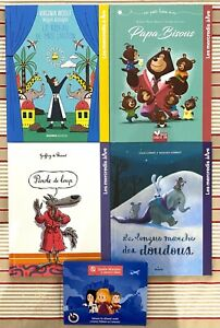 Lot de 4 livres Mac Do Happy Meal Les Mercredis à lire Loup Doudous etc.
