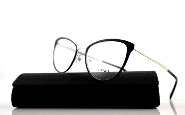 1128ac1fd5f New Authentic PRADA CINEMA Blue Silver Eyeglasses Frame PR 55TV U6R-1O1