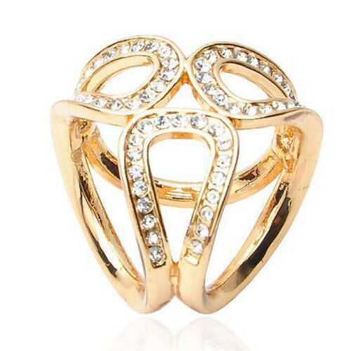 Silber gold kristall seidenschal clip schnalle halter brosche schmuck gescheTYD