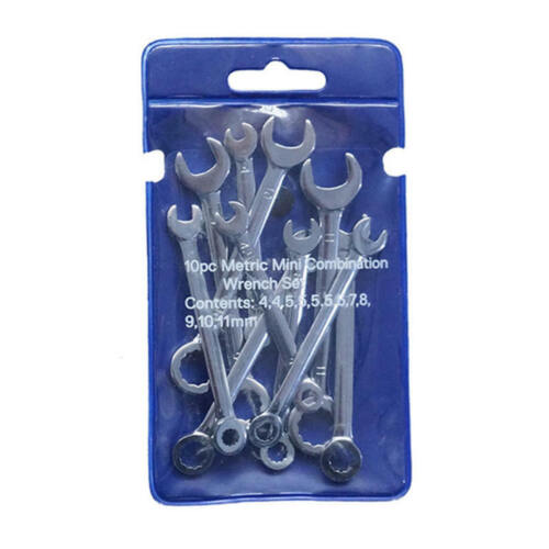 10x Metric//Inch Mini Combination Wrench Set Open End /& Ring Socket Spanners cvb